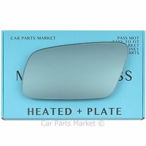 For AUDI A3 8L 00-03 Heated +BP Blue Left Side Wing Mirror Glass