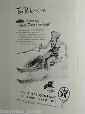 1948 Texaco advertisement, TEXACO Fire-Chief gasoline, female water-skier