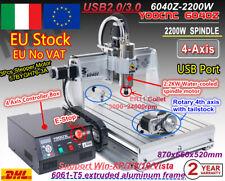 DE/IT/EU 4 Axis USB 6040 2200W/2.2KW CNC Router Engraver Cutting Milling Machine