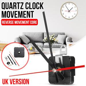 Backward Reverse Running Silent Clock Movement Mechanism Module Kit Red Hand
