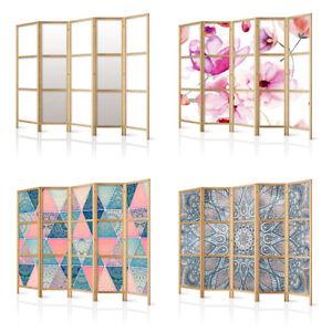 Raumteiler Deko Paravent Holz Trennwand Raumtrenner Blumen Mandala 11 Motive!