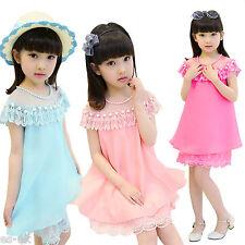 Vestidos de niña de 2 a 16 años azul sin mangas