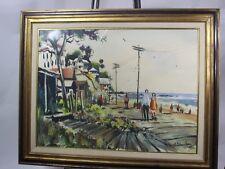 Paul Blaine Henrie Painting ORIGINAL Seascape Watercolor