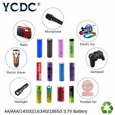 14500 16340 18650 Rechargeable Battery 3.7V 1500~5800mAh For Flashlight Torch