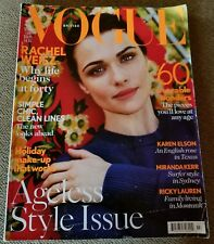 BRITISH VOGUE RACHEL WEISZ JULY 2012 AGELESS STYLE ISSUE FASHION BEAUTY GOOD