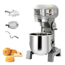 Three Speed 15qt Commercial Dough Food Mixer Gear Driven Pizza Bakery 580w New