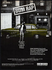 BUM RAP__Original 1989 Trade Print AD promo__CRAIG WASSON_AL LEWIS_BLANCHE BAKER