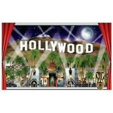 Hollywood Insta-View Wall Mural Plastic Red Carpet Awards VIP Party Decorations