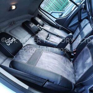 IN STOCK!!   FORD TRANSIT CUSTOM  VAN SEAT COVER GREY ALCANTARA CC70