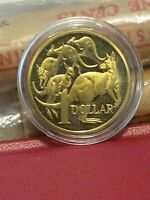 AUSTRALIA 1985-$1 DOLLAR PROOF COIN LOW MINTAGE IN A PLASTIC CAPSULE