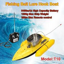 T10 Remote Control RC Bait Fishing Boat Electric Fish Finder Lure Carrier Yellow