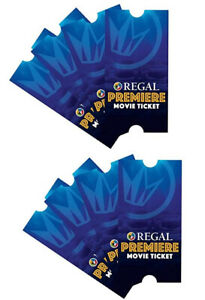 8 Regal Entertainment Group Premiere Movie Tickets - Physical Tickets