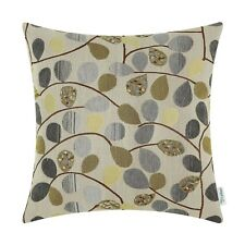 Ecru Grey Calitime Cushion Cover Case for Couch Sofa Chenille Cute Leaves 20X20""