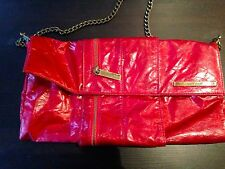 Red Matt & Nat Vegan Purse with Zipper's, Faux Crackle Leather Red Purse