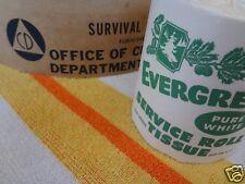 Genuine Vintage NOS Evergreen Toilet Paper Cold War Frantz Oil Filter Element