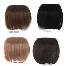FAD Full Bangs Hair Pieces Clip in on Extensions Brazilian Remy Ban _ZT