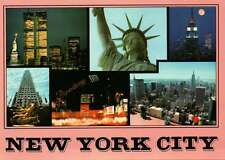 World Trade Center, Statue of Liberty, New York City NYC, Twin Towers - Postcard