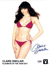 Claire Sinclair Signed Official Playboy Headshot 8x10 Photo PSA/DNA COA Auto'd