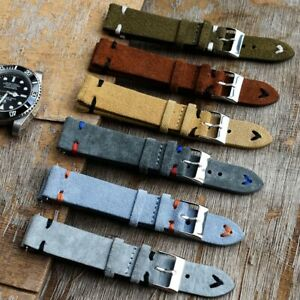 Tissot OMEGA Timex Galaxy Watch Strap Band Genuine Leather 18mm 20mm 22mm 24mm
