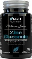 Zinc Gluconate 40mg Vegan Capsules High Strength Immune Support