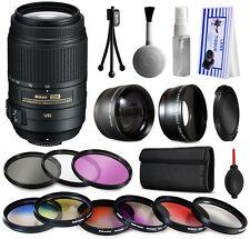 55-300 VR Lens + 9 Filters Accessory Kit for Nikon D5500 D5300 D5200 D3300 D3200