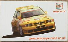 SEAT Ibiza Kit Car Rally Sticker 1998 99 World British Championship Cupra WRC