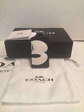 DISNEY XCOACH Mickey Mouse Black Leather Hang Tag Bag Charm Key Chain-NWT- 54092