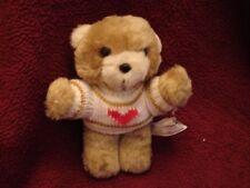 "Vtg House-of-Lloyd Sweet Heart Teddy Bear 1986 Plush Mini 29-051 Red Heart 6.5"""