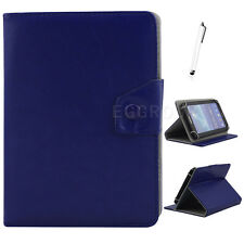 """US For 7"""" 8"""" 10"""" 10.1"""" inch Tablets Universal Folio Leather Stand Case Cover+Pen"""