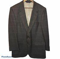 Burberry Vintage Mens Sport Coat Blazer Jacket Size 44 100% Wool 2 Button