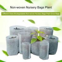 100PCS Garden Biodegradable Non-Woven Nursery Bags Plant Grow Bags Seedling Pot