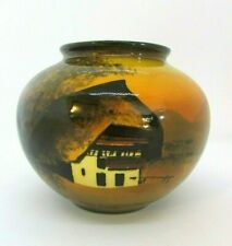 Schramberg Germany Majolika Handpainted Vase SMF #23