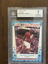 MICHAEL JORDAN 1989-90 FLEER #3 STICKER CHICAGO BULLS BGS 7 HOF NBA