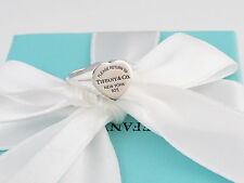 AUTHENTIC TIFFANY & CO RETURN TO TIFFANY SIGNET HEART RING SIZE 5 BOX INCUDED