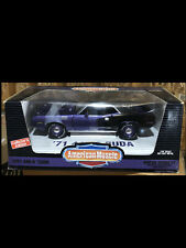 1971 Plymouth Cuda Purple  1:18 Ertl American Muscle 29030