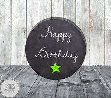 Aufkleber rund 40 mm / Happy Birthday / DIY / Geschenkaufkleber / Geburtstag