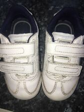 Boys Leather Trainers Puma Size UK 5 infant White