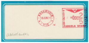 (I.B) Australia - Victoria Railways : Meter Parcel Stamp (Reservior)