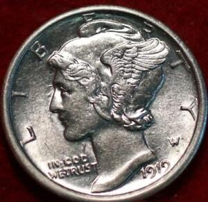 Uncirculated 1919-S San Francisco Mint Silver Mercury Dime