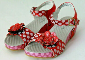 LAURA VITA Damen Schuhe Keil-Sandalette rot-lila Leder Größe 37 38 39 42 NEU K1