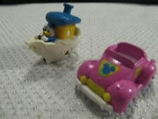 Disney Donald Duck Plastic Toy Wind Up Boat~Minnie Mouse Car