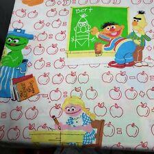 Vintage Muppets Sesame Street Twin Flat Sheet Fabric BIG BIRD COOKIE MONSTER