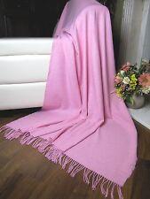 Wolldecke Wohndecke Plaid Kuscheldecke Tagesdecke Decke 130x185cm 20% Wolle Rosa