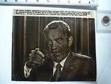Vintage AP Wire Press Photo 1971 Watergate Nixon Vietnam Troops Reduced  25,000