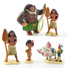 Disney Moana Action Figures Doll 6PCS Kids Figurines Cake Topper Decor Toy Gift