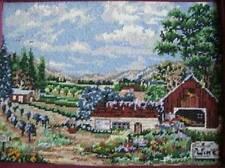 Vineyard Scenery Finished Needlepoint -40x30 cm/16.75x12 Inches