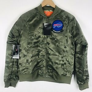 Nike NFL Buffalo Bills Salute Service Camo Jacket Bomber AT7863-222 Wmns Size S