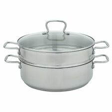 CW7101 Specialty 7 Quart Stainless Steel 12 Inch Diameter Mega Pan with Steamer.