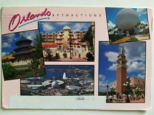 Orlando Attractions Picture Postcard Postmarked 1999