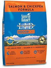 Natural Balance Lid Salmon & Chickpea Indoor Dry Cat Food